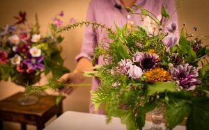 Blomsterarrangemang på Berghem